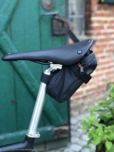 Zum Verstauen des Fahrradwerkzeuges unterwegs ist eine Satteltasche optimal.